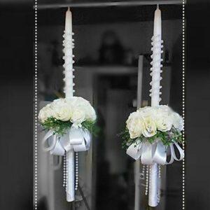 נרות כלה פרחים אמתיים