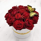 סידור ורדים בקופסה