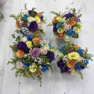סידור פרחים למרכז שולחן