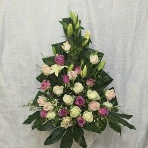 סידור פרחים ורוד